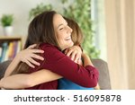 two affectionate friends or... | Shutterstock . vector #516095878