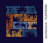 hawaii typography poster.... | Shutterstock .eps vector #516098380