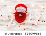 new year 2017 on white fabric... | Shutterstock . vector #516099868