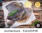 Raw Flounder Fish  Flatfish On...