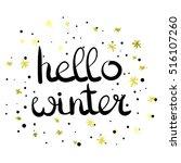vector hand written phrase... | Shutterstock .eps vector #516107260
