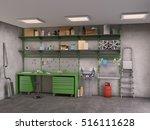 garage interior  3d illustration | Shutterstock . vector #516111628