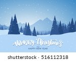 vector illustration  merry... | Shutterstock .eps vector #516112318