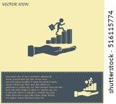 man climbs up the career ladder | Shutterstock .eps vector #516115774