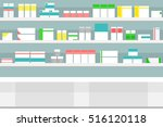 vector illustration pharmacy... | Shutterstock .eps vector #516120118
