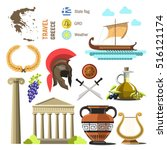 greece vector travel collection.... | Shutterstock .eps vector #516121174