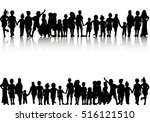 a large set of children... | Shutterstock .eps vector #516121510
