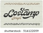 Bold Calligraphic Font Named ...