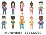 confident business woman... | Shutterstock .eps vector #516123280