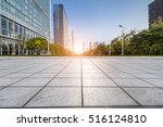 empty floor with modern... | Shutterstock . vector #516124810
