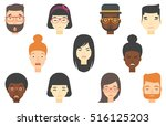 people of various ethnicity... | Shutterstock .eps vector #516125203