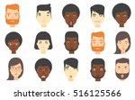 set of people of various... | Shutterstock .eps vector #516125566
