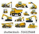 big set of construction... | Shutterstock .eps vector #516125668