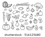 fresh vegetables and fruit... | Shutterstock .eps vector #516125680