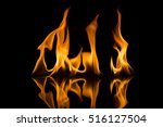 fire flames on black background | Shutterstock . vector #516127504