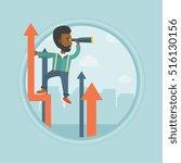 an african american businessman ... | Shutterstock .eps vector #516130156