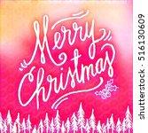 digital painting   merry... | Shutterstock . vector #516130609