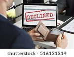 declined deny reject stamp... | Shutterstock . vector #516131314