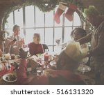 family together christmas... | Shutterstock . vector #516131320