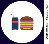 fast food simple vector button. ...