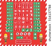 set of fire safety signs and... | Shutterstock .eps vector #516137788