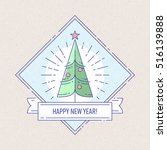 vintage badge or labels with... | Shutterstock .eps vector #516139888