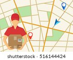 service of fast delivery.... | Shutterstock .eps vector #516144424