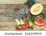 fruits  vegetables and in... | Shutterstock . vector #516145954