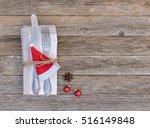 christmas season table setting  ... | Shutterstock . vector #516149848