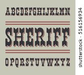 wild west style font on dark... | Shutterstock .eps vector #516156934