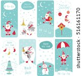 set of cute doodle christmas...