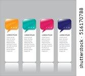 infographics business steps...   Shutterstock .eps vector #516170788