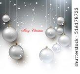 elegant shiny christmas... | Shutterstock .eps vector #516178723