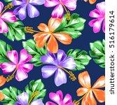 cute tropical print design  ...   Shutterstock .eps vector #516179614