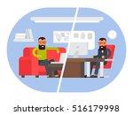 freelancer vs business office... | Shutterstock .eps vector #516179998