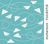 paper planes background | Shutterstock .eps vector #516181918