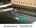 embroidery machine stitching a... | Shutterstock . vector #516185119