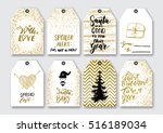 christmas  new year gift tags... | Shutterstock .eps vector #516189034