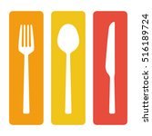 fork spoon and knife cutlery... | Shutterstock .eps vector #516189724