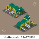 set of isolated isometric... | Shutterstock .eps vector #516190030