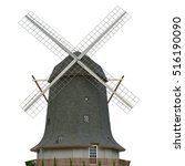Dutch Windmill Farm Isolate...