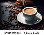 fresh tasty espresso cup of... | Shutterstock . vector #516191629