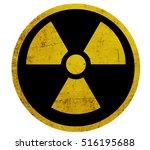 grunge radiation symbol | Shutterstock .eps vector #516195688