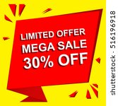 sale poster with limited offer... | Shutterstock .eps vector #516196918