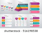 set with infographics. data and ... | Shutterstock .eps vector #516198538
