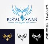 royal swan logo | Shutterstock .eps vector #516203596
