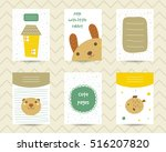cute note pages  to do list ... | Shutterstock .eps vector #516207820