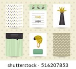 cute note pages  to do list ... | Shutterstock .eps vector #516207853