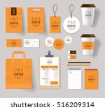 corporate branding identity... | Shutterstock .eps vector #516209314