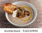 Mushroom Soup With Crouton And...